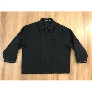 Boeing Bomber Coat Jacket Wool Lined Embroidered
